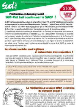 Filialisation et dumping social à TRANSKEO  : SUD-Rail fait condamner la SNCF !