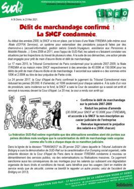 Délit de marchandage confirmé ! La SNCF condamnée.