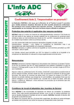 LN ADC : Confinement, acte 2, l'improvisation se poursuit !