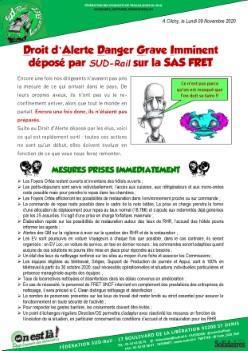 LN Fret : Droit d'alerte déposé sur la SAS FRET SNCF