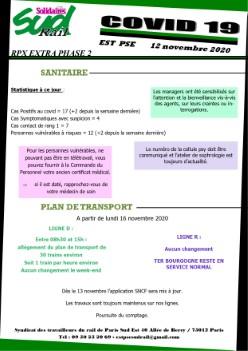 EST PSE : RPX extra covid19 du 12 Novembre 2020 (phase 2)