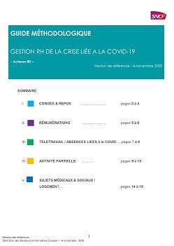 Guide méthodologique RH (groupe SNCF) gestion de la crise COVID 19