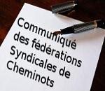 Communiqué SUD Rail – CGT – UNSA – CFDT.