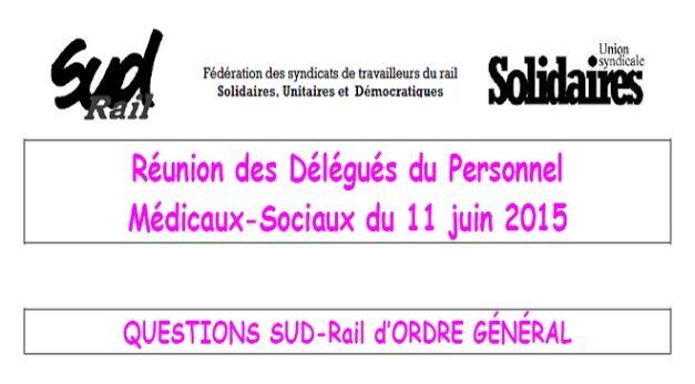 Compte rendu DP Médicaux-Sociaux du 11 juin 2015
