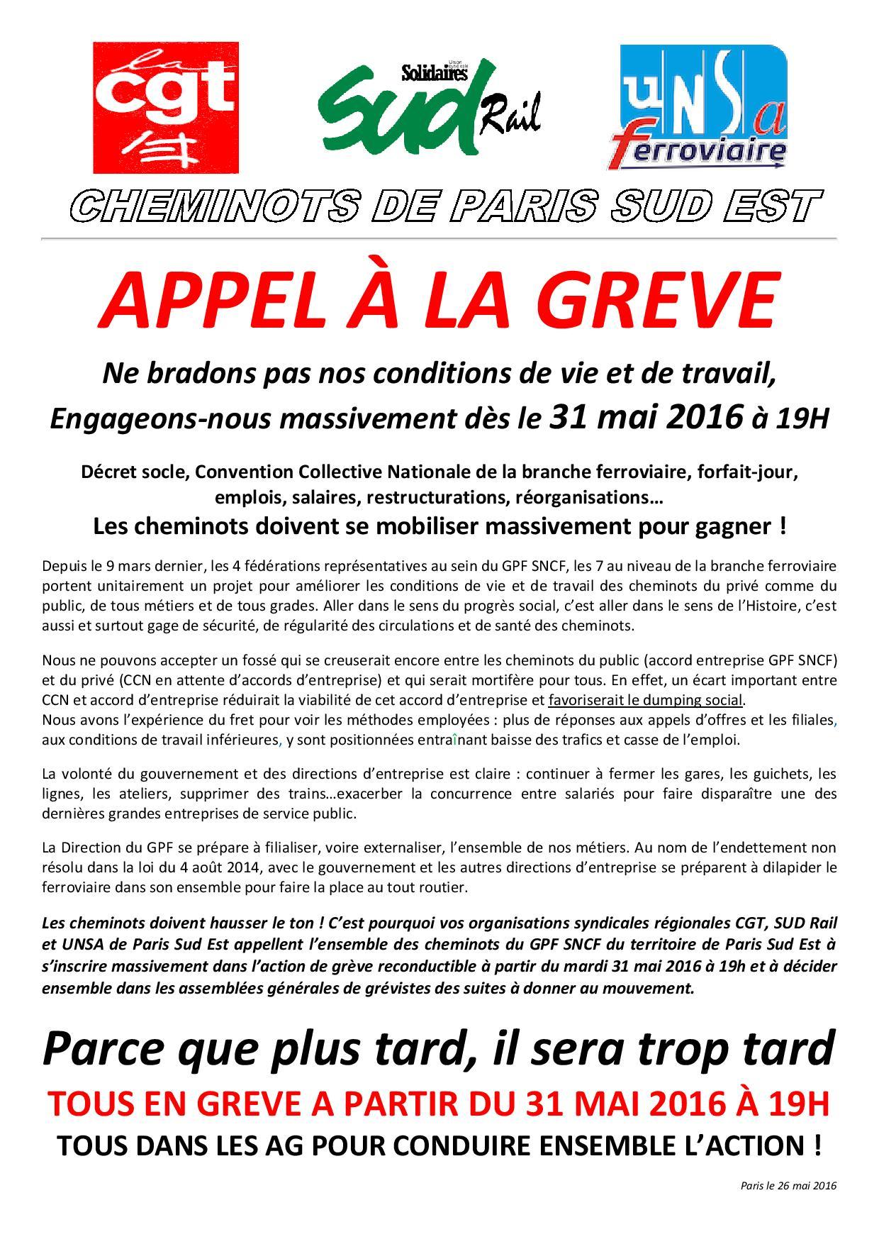 appel greve unitaire 31-05-2016