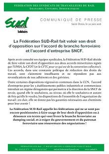 SUD Rail s'oppose aux accords de branche et d'entreprise