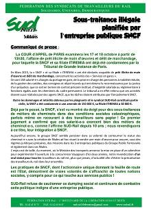 Sous traitance illégale planifiée par la SNCF