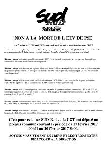 Non à la mort de l'EEV de PSE