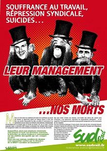 Leurs management… nos morts. Ils doivent payer !