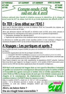 ECT : Compte rendu CSR du 04 avril 2017
