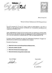 EEV : Grève du 02 juin 00h01 au 06 juin 2017 à 08h00