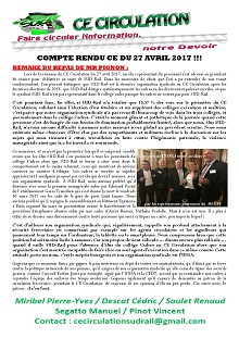 Compte rendu CE Circulation du 27 avril 2017