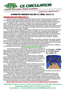 Compte rendu CE Circulation du 31-05-2017