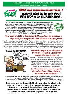 SNCF crée sa propre concurrence – Manifestation et grève le 30 juin 2017