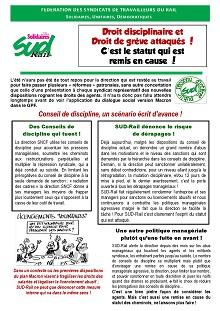 Droit disciplinaire et droit de grève attaqués