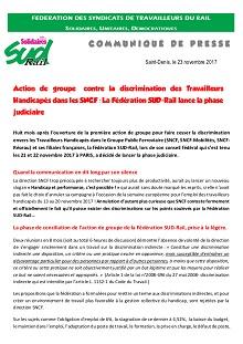 Discrimination des Travailleurs Handicapés : SUD-Rail lance la phase judiciaire