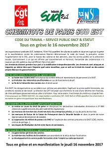 Tous en grève le 16-11-2017
