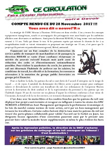 CE Circulation : Compte rendu CE du 28-11-2017