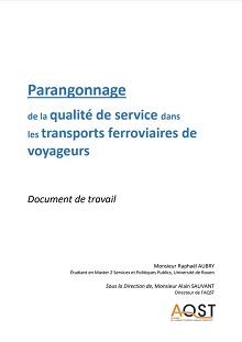 Parangonnage de la qualité de service dans les transports ferroviaires de voyageurs
