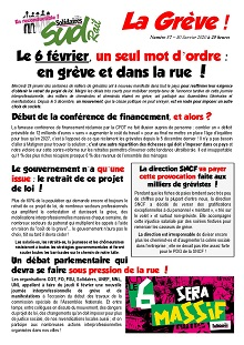 Le 6 février, un seul mot d'ordre : en grève et dans la rue !