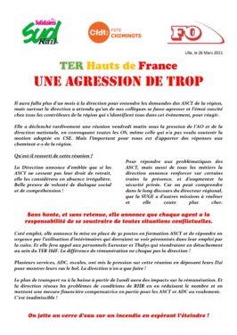 TER Hauts de France : Une agression de trop