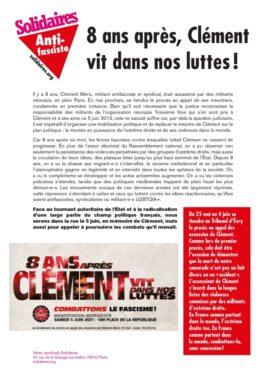 8 ans après, Clément vit dans nos luttes !