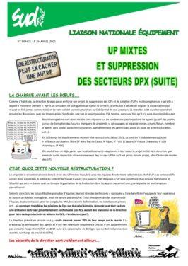 UP mixte et suppression des secteurs DPX (suite) : la charrue avant les boeufs…