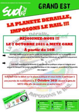 Logo et affiche du rassemblement à Metz le 7 octobre 2021