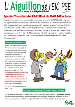 Transfert du PAR SE et du PAR IdF à Lyon