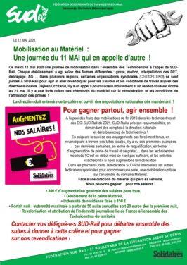 Bilan de la journée d'action du 11 mai au matériel