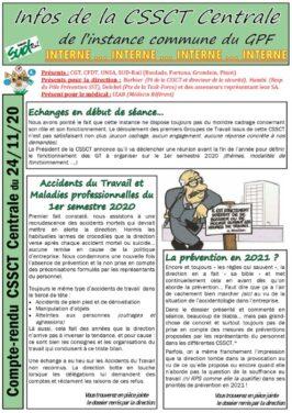 CSSCT centrale SNCF du 24 Novembre