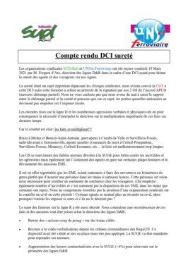 DCI Sureté lignes D&R