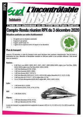 L'incontrôlable insurgé : Réunion RPX du 3 décembre 2020