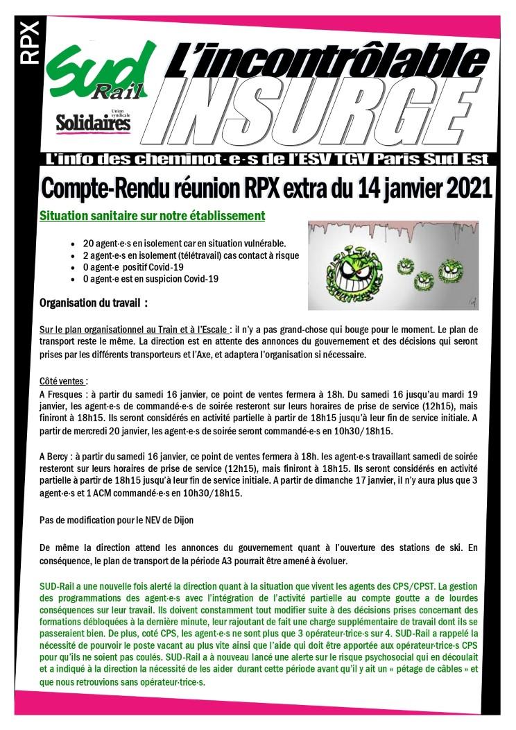 l'incontrôlable insurgé : RPX extra du 14 jan. 2020