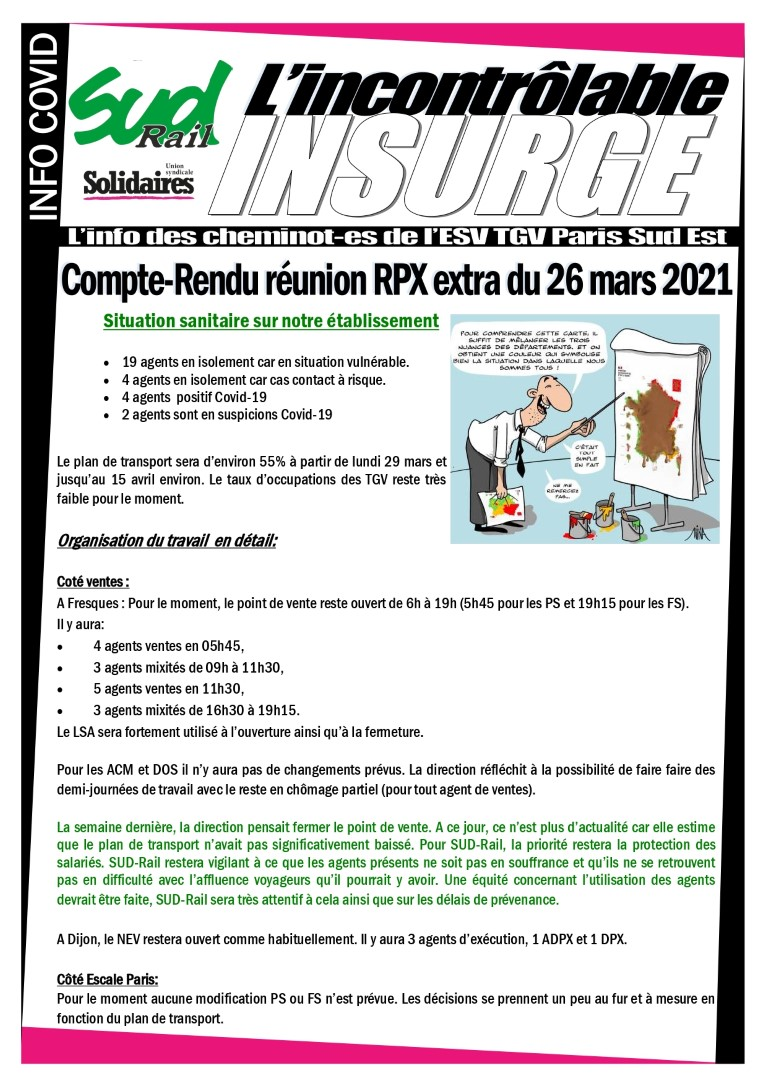Compte-rendu rpx extra du 26 mars 2021