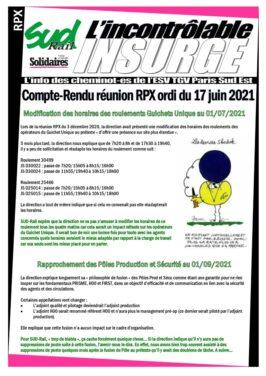 Rapprochement des pôles prodiuction et Sécurité au 01/09/2021