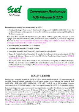 commission roulement  TGV Période B 2021