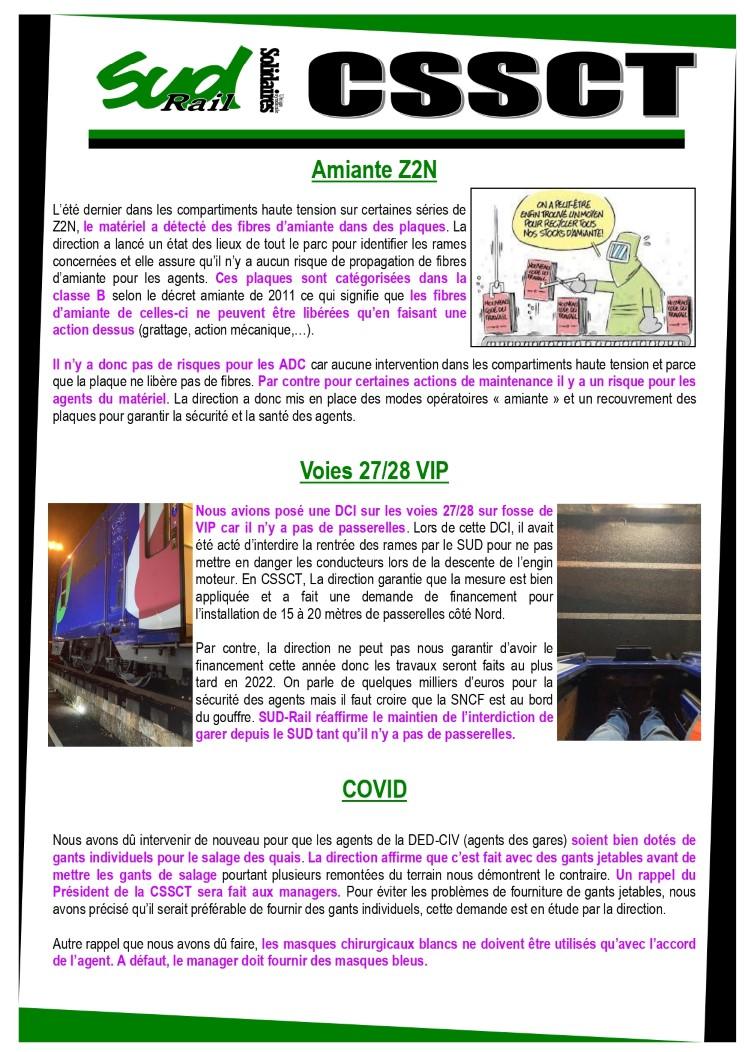 CSE Transilien lignes D&R CSSCT extra du 26 janvier 2020