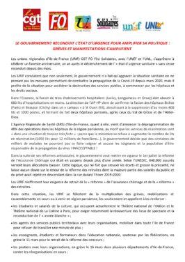 LE GOUVERNEMENT RECONDUIT L'ETAT D'URGENCE POUR AMPLIFIER SA POLITIQUE : GRÈVES ET MANIFESTATIONS S'AMPLIFIENT