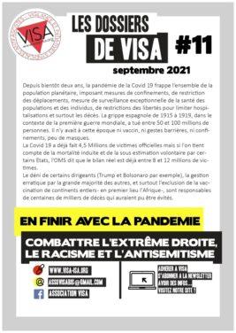 Les dossiers de VISA N°11 : En finir avec la pandémie, combatre l'extrême droite, le racisme et l'antisemitisme.
