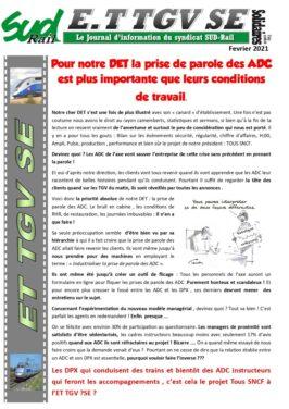 ET TGV SE. Pour le DET, la prise de parole est plus importante que les conditions de travail des ADC