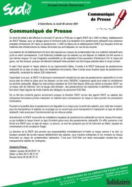 Communiqué de presse : Droit de retrait lié au recyclage des paratonerres radioactifs