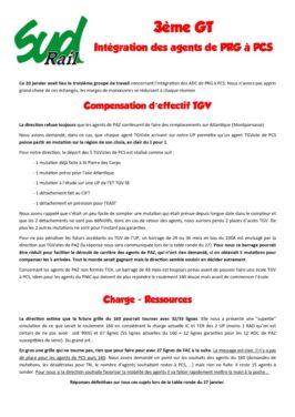 3eme GT Intégration des agents de PRG à PCS