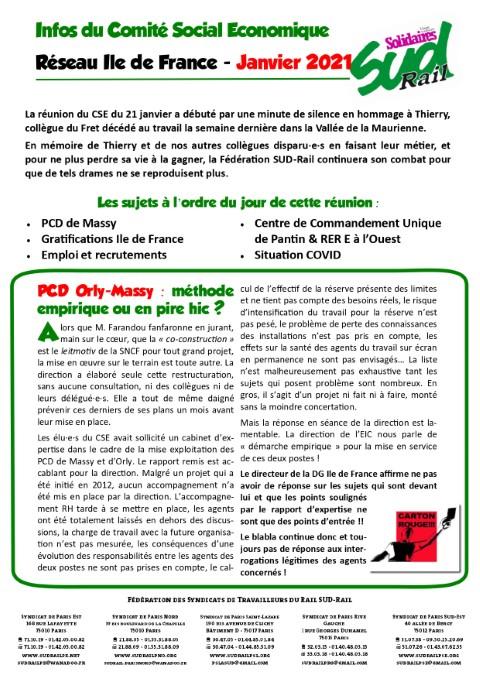 Les infos du CSE Réseau IdF