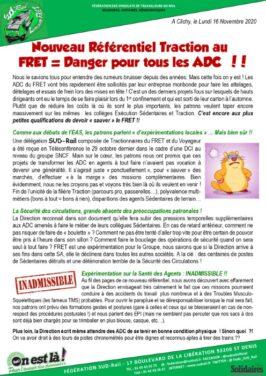 Nouveau Référentiel Traction au Fret = Danger pour tous les ADC !