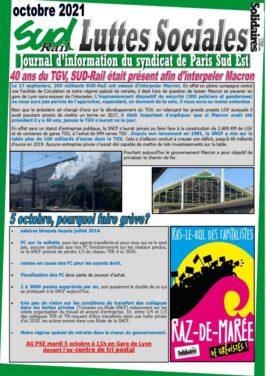 40 ans du TGV : SU-D-Rail était présent afin d'interpeler Macron