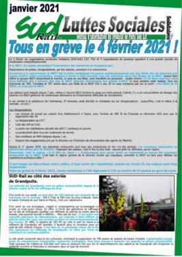 Luttes Sociales Jan. 2021 : Tous en grève le 4 février !