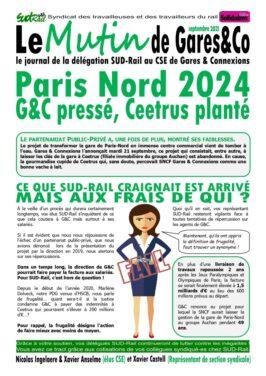 Paris-Nord 2024 : Gares&Co pressé, Ceetrus planté !!
