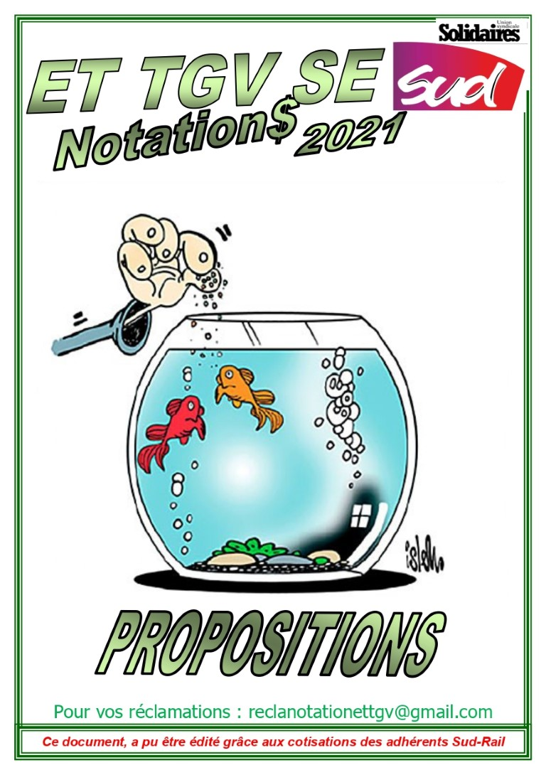 ET TGV SE : Propositions (notations 2021)