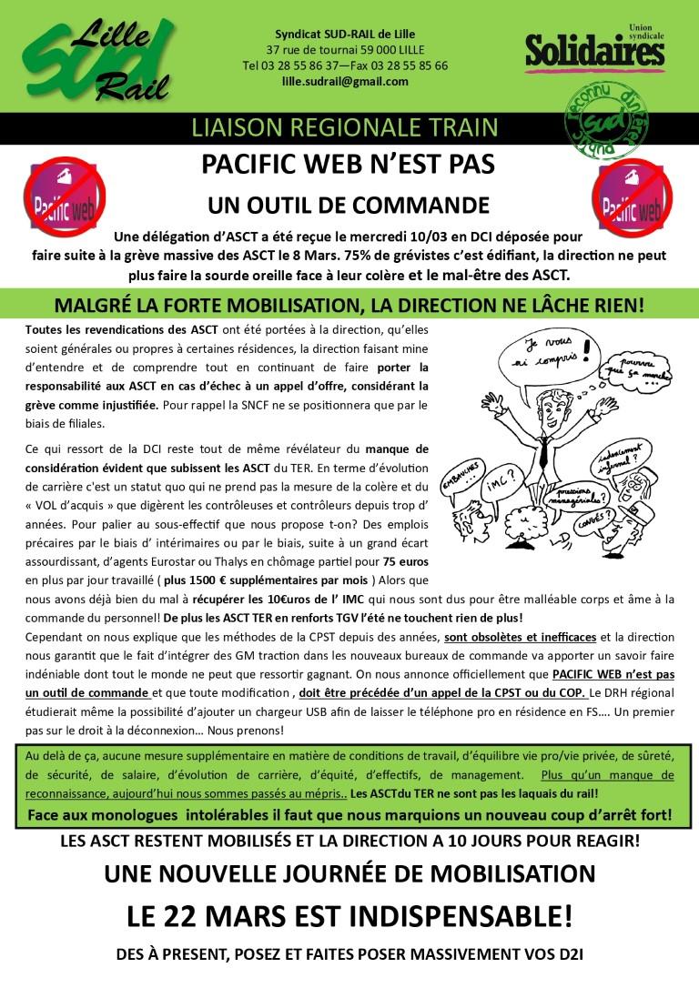 SUD-Rail Lille : grève des ASCT